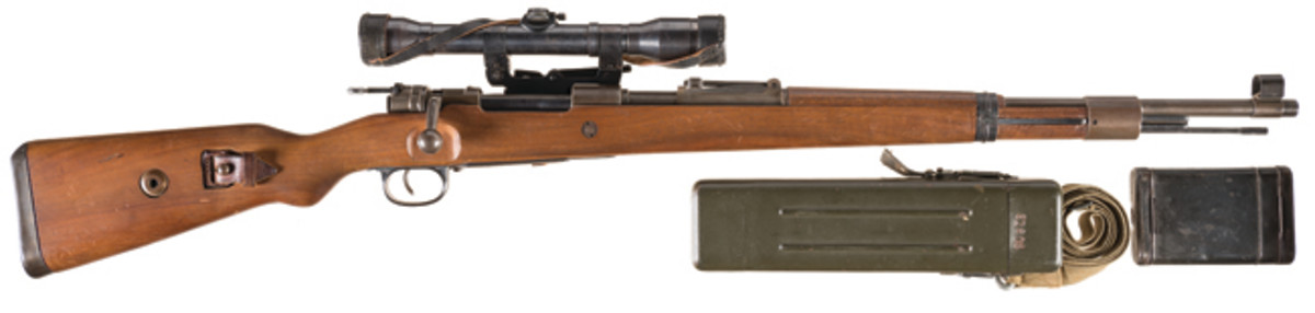 "Gustloff-Werke ""bcd/4"" Code Model 98 Bolt Action Sniper Rifle in ""Long Rail"" Configuration SOLD $13,800"