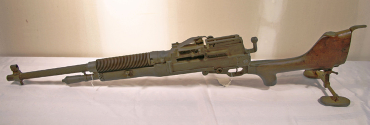 The auction will also feature this World War II-era decommissioned machine gun, which has been welded so it cannot fire.
