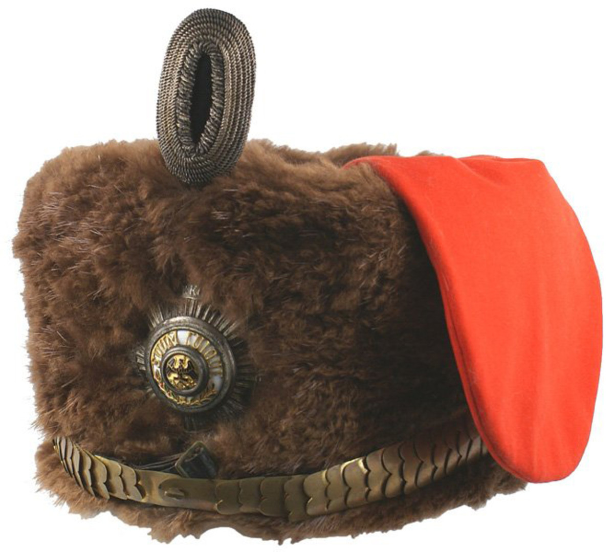 Personal Garde Hussar busby (fur-covered helmet) once owned by Germany's Kaiser Wilhelm ($16,500).