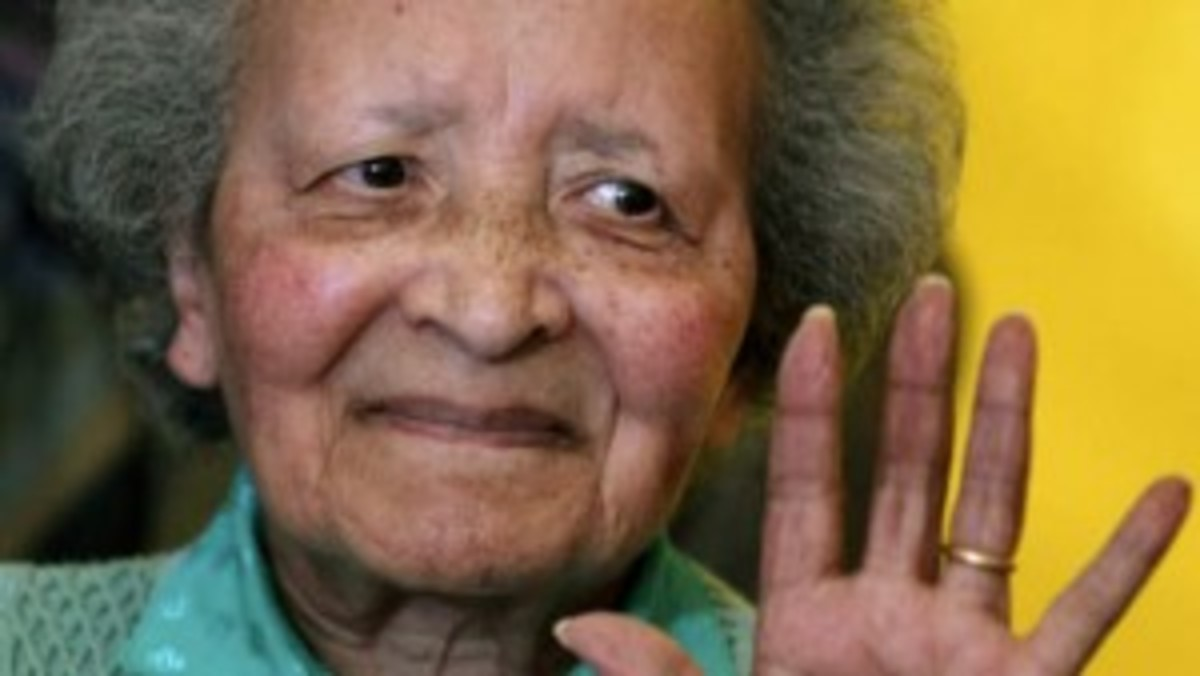 Belgian nurse Augusta Chiwy, who helped save hundreds of American soldiers during the Battle of the Bulge at the end of World War II, died Sunday, Aug. 23, 2015. She was 94.