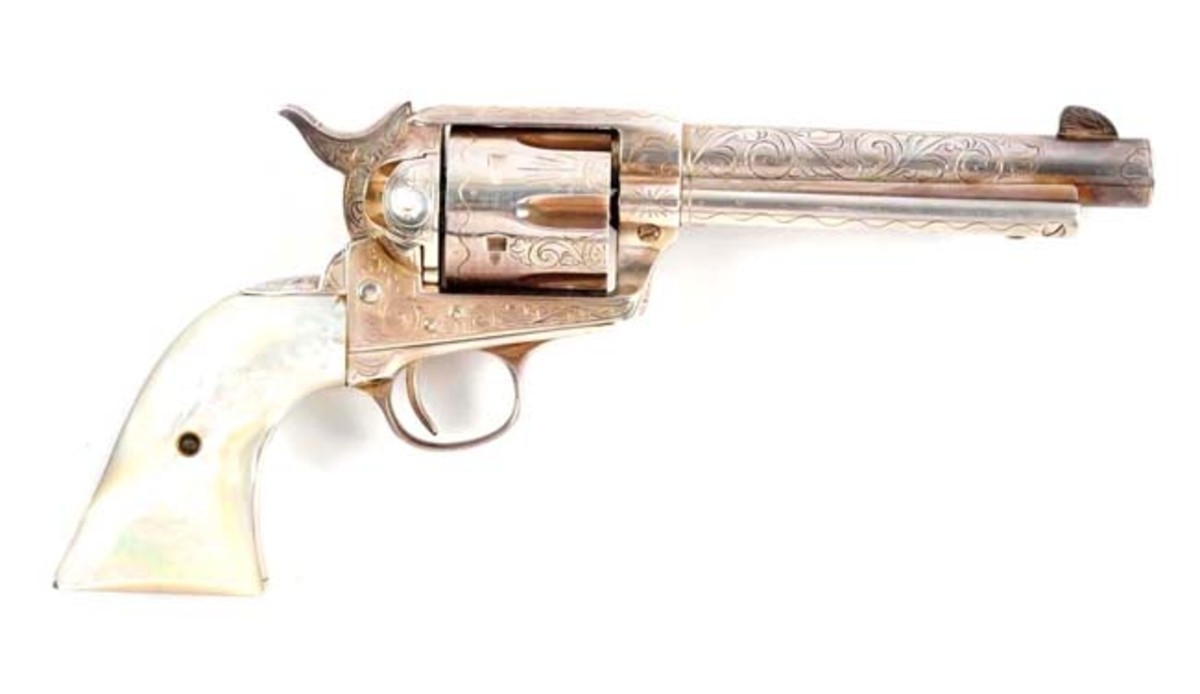 Engraved & Silver Plated Colt 1st Generation Revolver