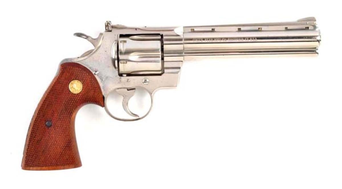 1st Factory Nickel Colt Python Revolver