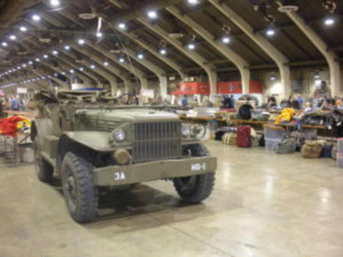 Each year, the West Coast Militaria Collectors Show in Pomona attracts a large variety of relic dealers, reenactors, and historic military vehicle owners.