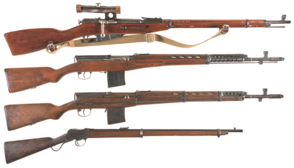 Four Military Rifles SOLD $6,325