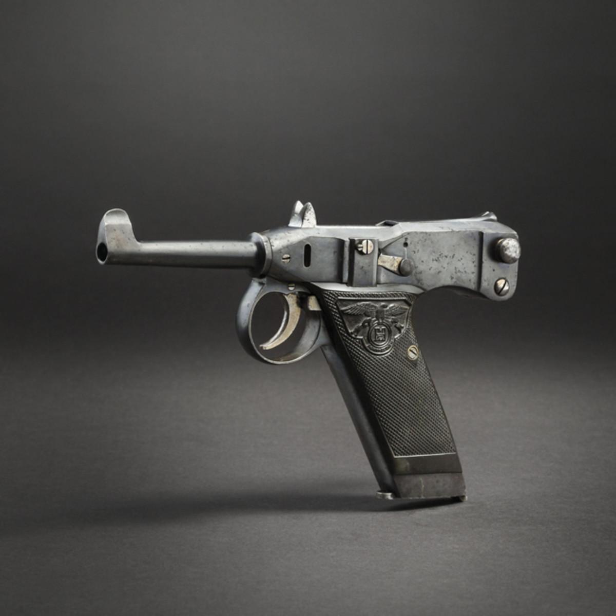 One of the rarest self-loading pistols, an Adler self-loading pistol, 1907