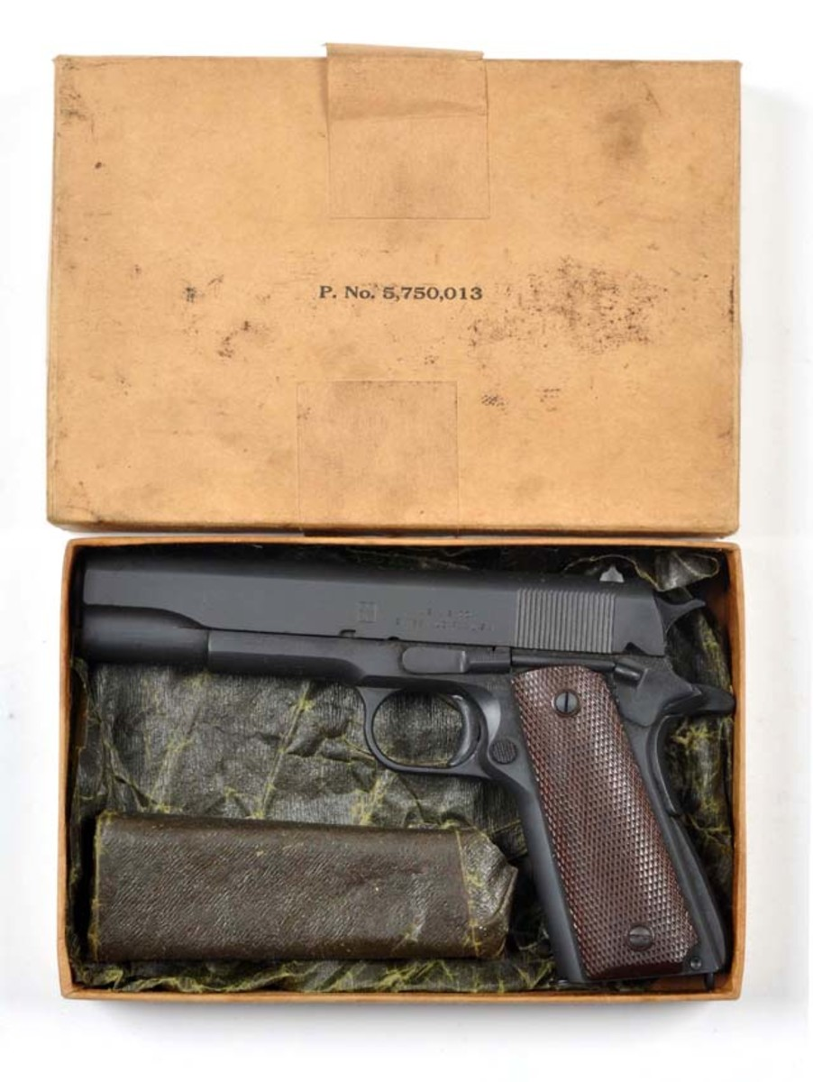 Unfired Union Switch & Signal Colt 1911 pistol, estimate $6,000-$9,000. Morphy Auctions image