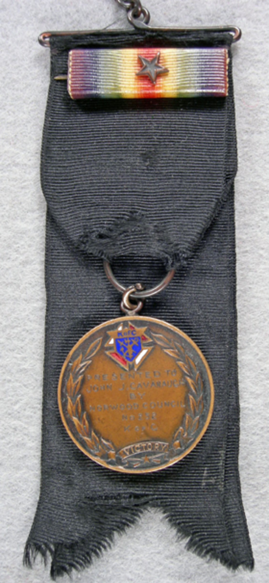 The Knights of Columbus emblem on the fob was the clue that led to discovering who John J. Cavanaugh was.