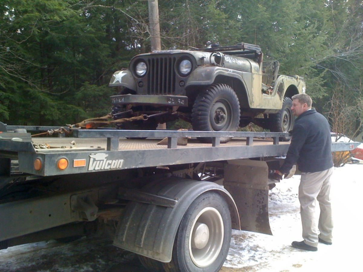 After loading the find onto his flatbed, Angelo decided, then and there, to restore the rare Jeep to full 1952 functionality.