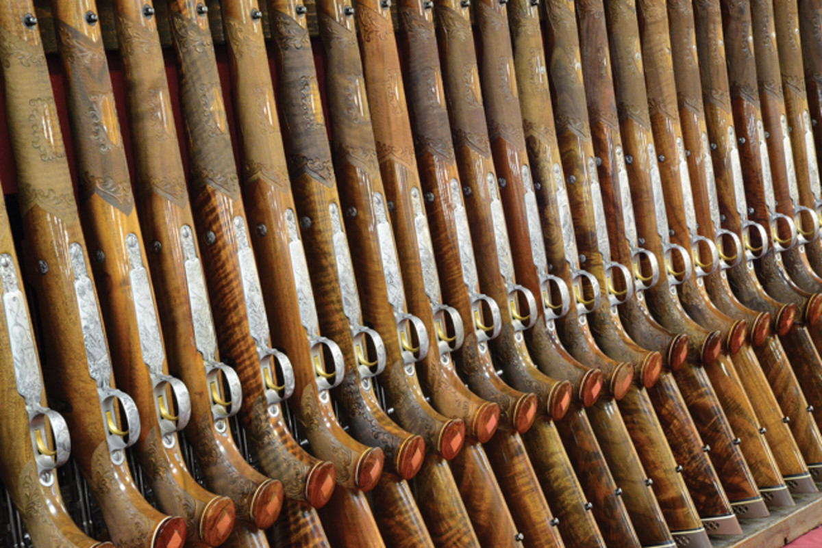 "Promo020, which is The Largest Collection of Fine Browning Olympian Rifles ever offered at auction from the Rod Fuller Estate Collection"". All in their original boxes, most are estimated in the $6,000-9,000 range each."