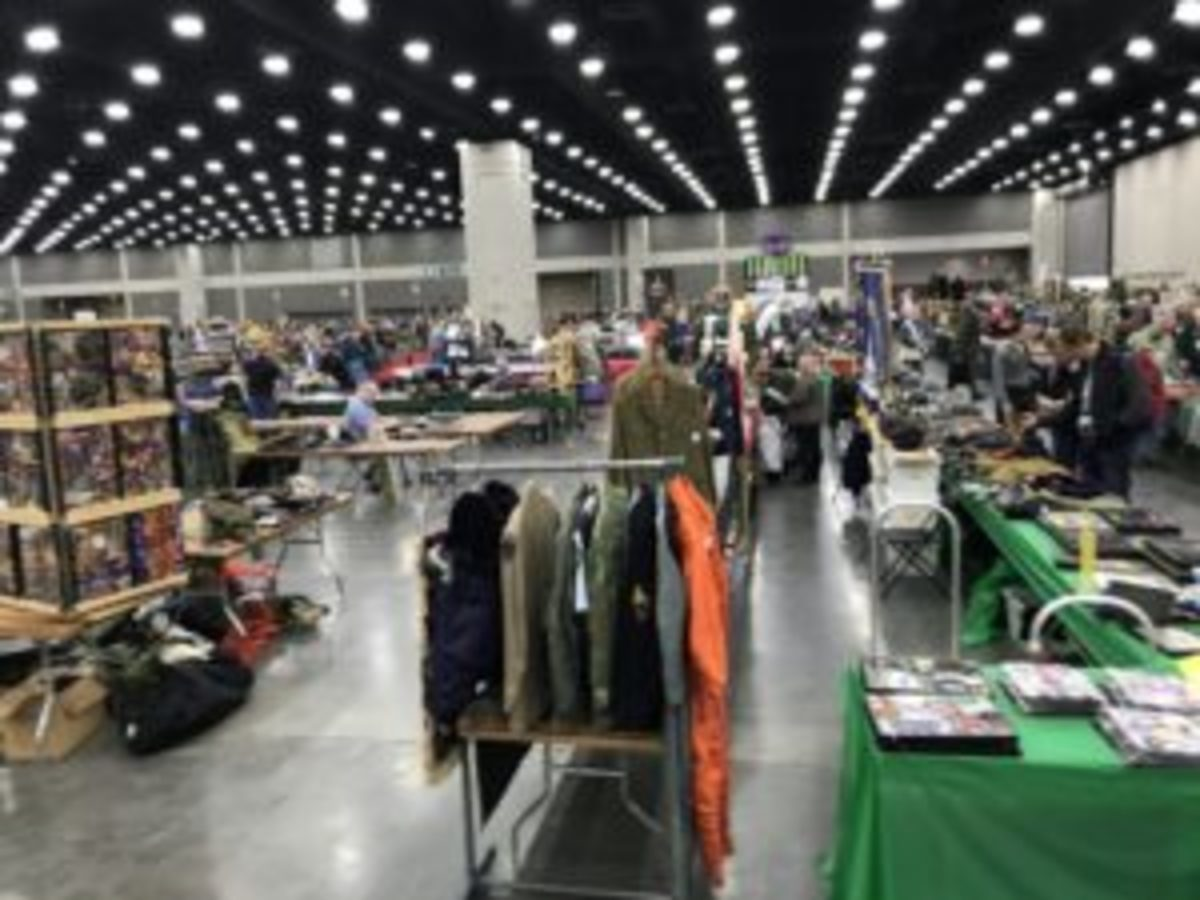 By about 3PM on Wednesday, nearly 65% of the tables are full of wares. By Thursday morning, nearly 99% will be occupied.