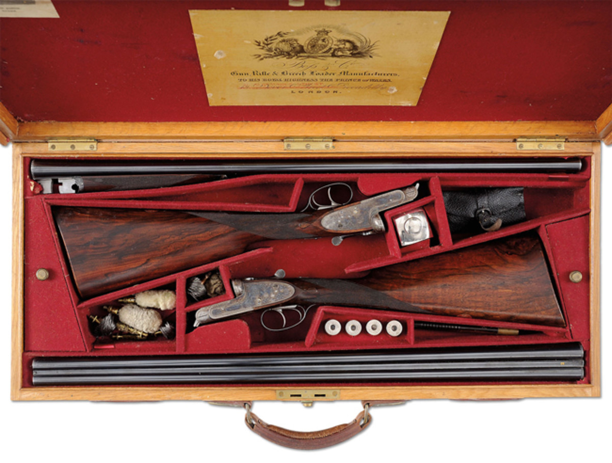 """As Found"" High Original Condition Pair of 16 Gauge ""Golden Age"" Boss Sidelock Ejector Double Trigger Light Game Shotguns"