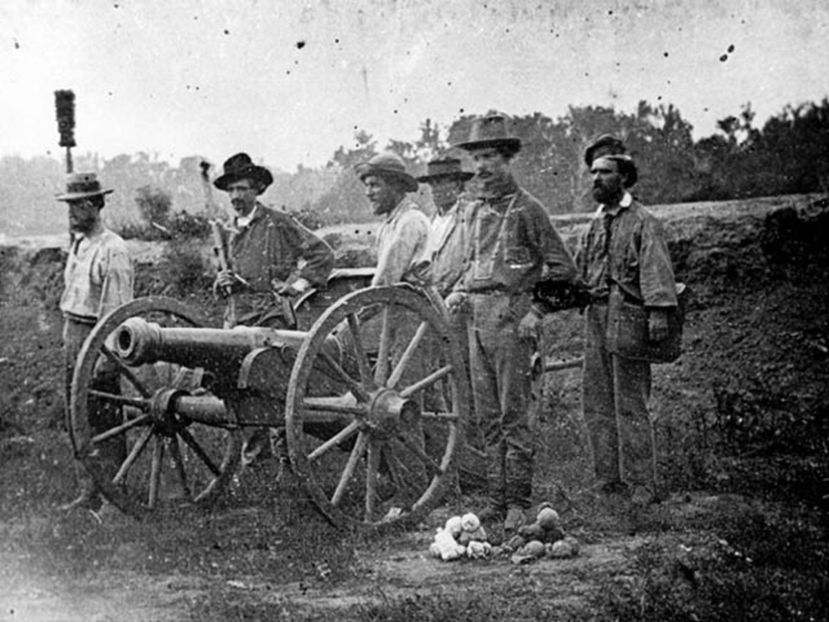 """The Model 1841 6-pound Field Gun performed combat roles over a quarter century, first proving an effective horse artillery piece during the Mexican-American War, the wars against Native Americans in the 1850s and even during the tumultuous """"Bloody Kansas"""" border wars in the late 1850s, as seen in this (reversed) daguerreotype of a gun and crew now in the collection of the Kansas State Historical Society."""