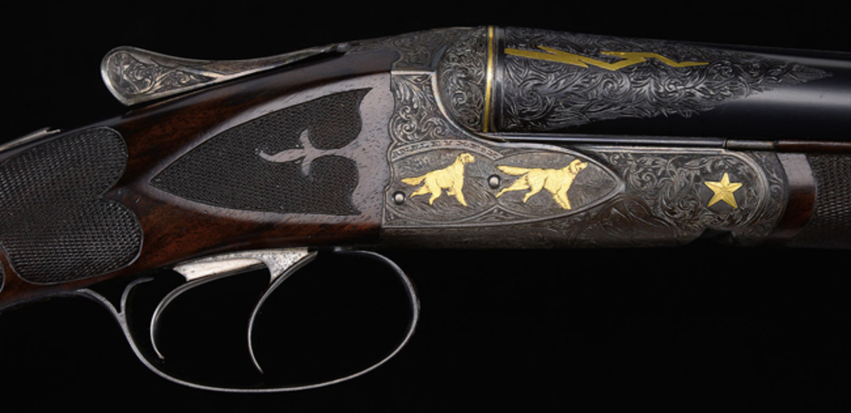 "A.H. Fox ""FE"" Grade Shotgun with Special Gold Inlays"