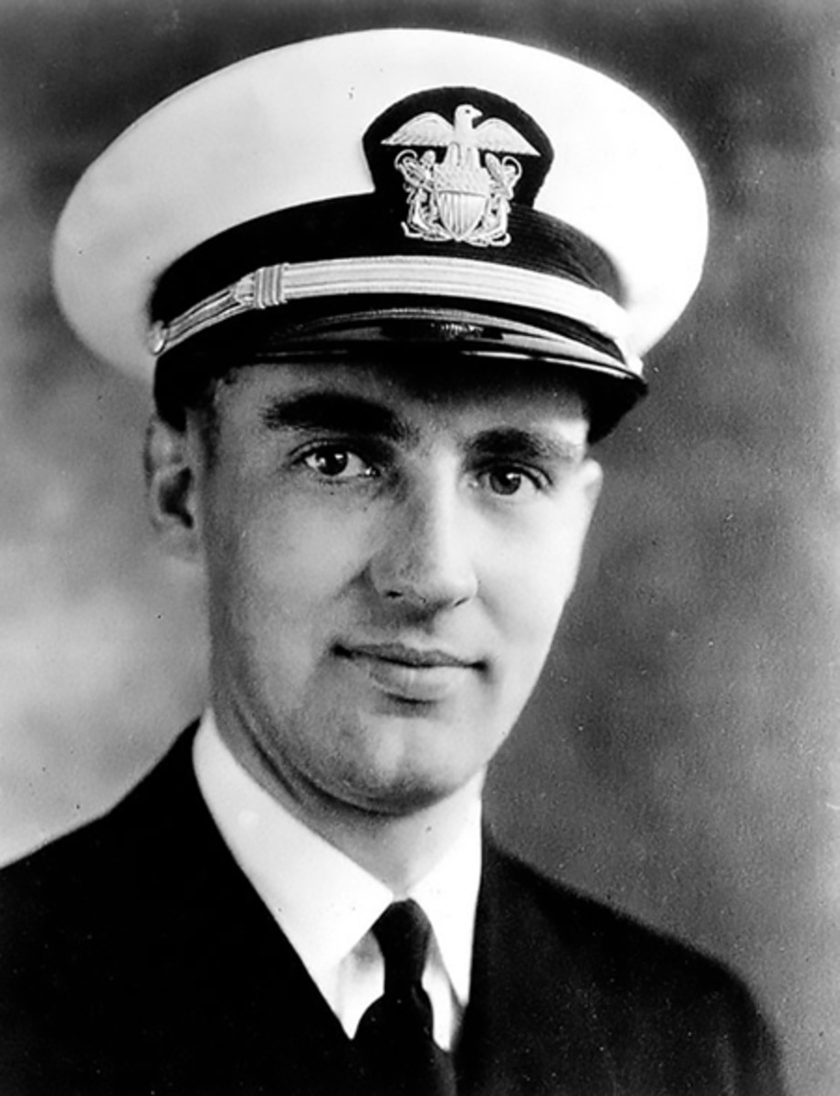 Lt. j.g. Aloysius H. Schmitt who was killed during the Japanese attack on Pearl Harbor Dec. 7, 1941. (Photo Courtesy of Loras College/Released)