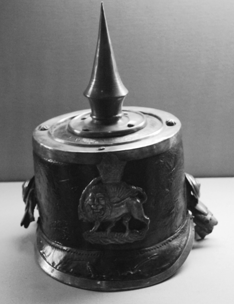 A truly rare shako – a European made shako (likely of German origin) with a spike and the Qajar lion and sun plate. This is one of a handful of surviving examples and is in the collection of the Turkish Military Museum in Istanbul (Photo by the author)