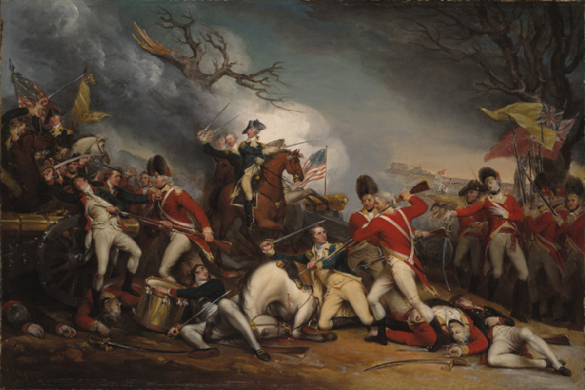 Battle of Princeton - Death of Mercer by Trumbull (Yale)