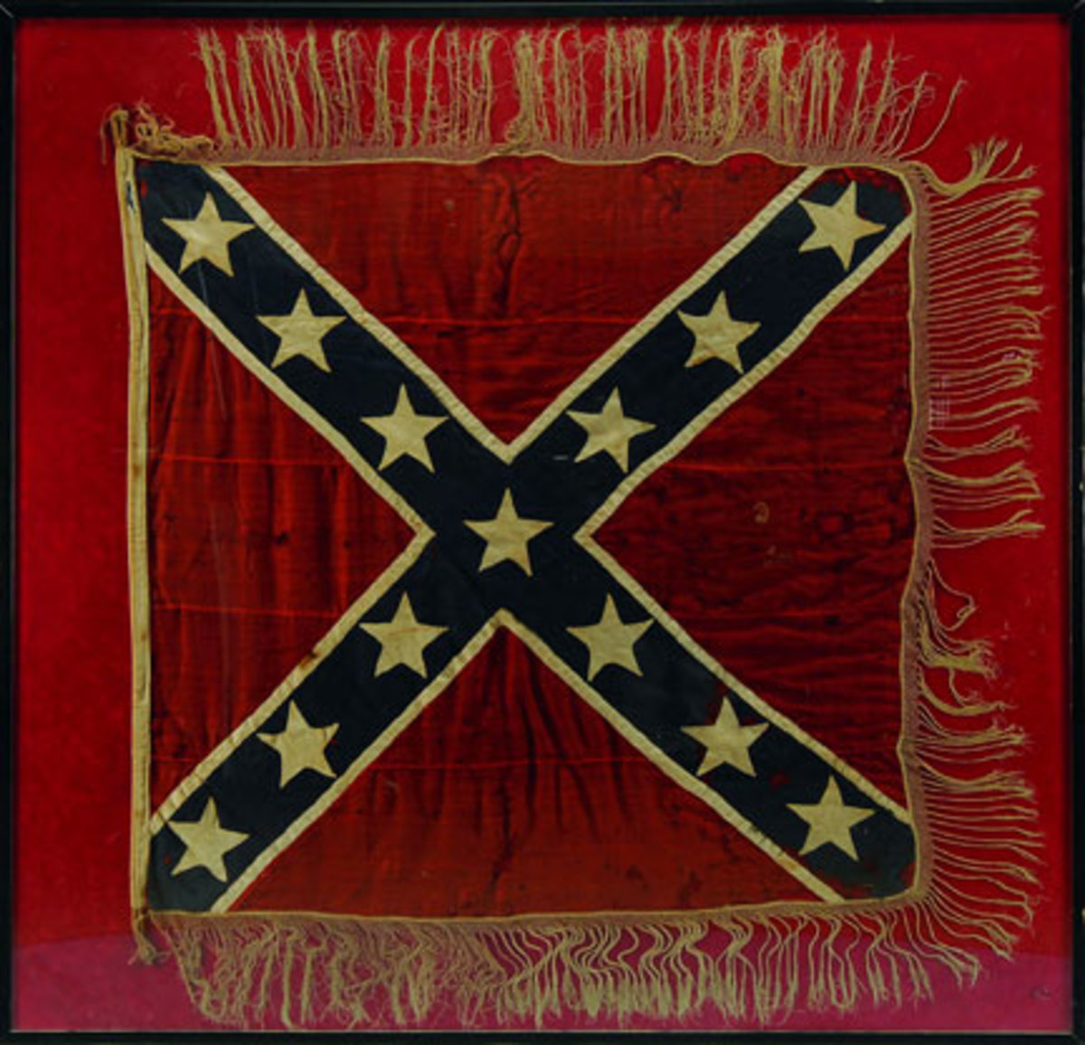 Confederate Battle Flag in the Army of No. VA design. SOLD $120,750