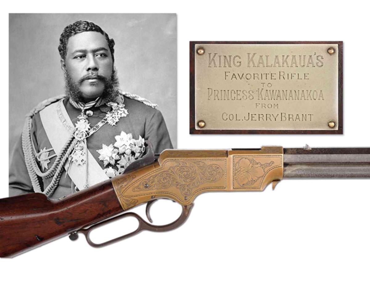 5.Lot #3006, a rare engraved Henry to American Civil War General, Edward McCook, later presented to King Kalakaua of Hawaii and then to Princess Kawananakoa, estimate $150,000-250,000.