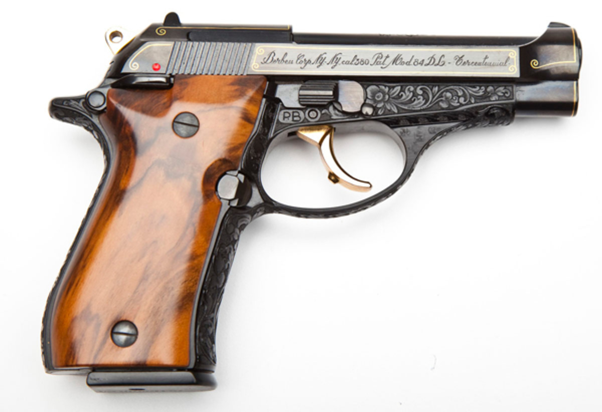 Beretta TerCentennial Engraved Model 84 (estimate $2,500-$3,000)