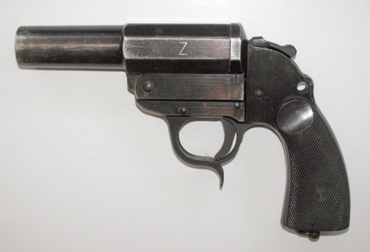 """The German AC41 Walther Kampfpistole Z is well-marked with a """"Z"""" on the side of its rifled barrel."""