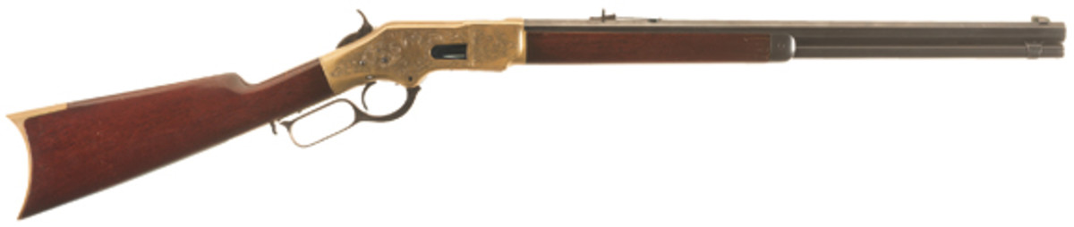 Lot #3002 - Engraved Winchester Model 1866 Lever Action Rifle