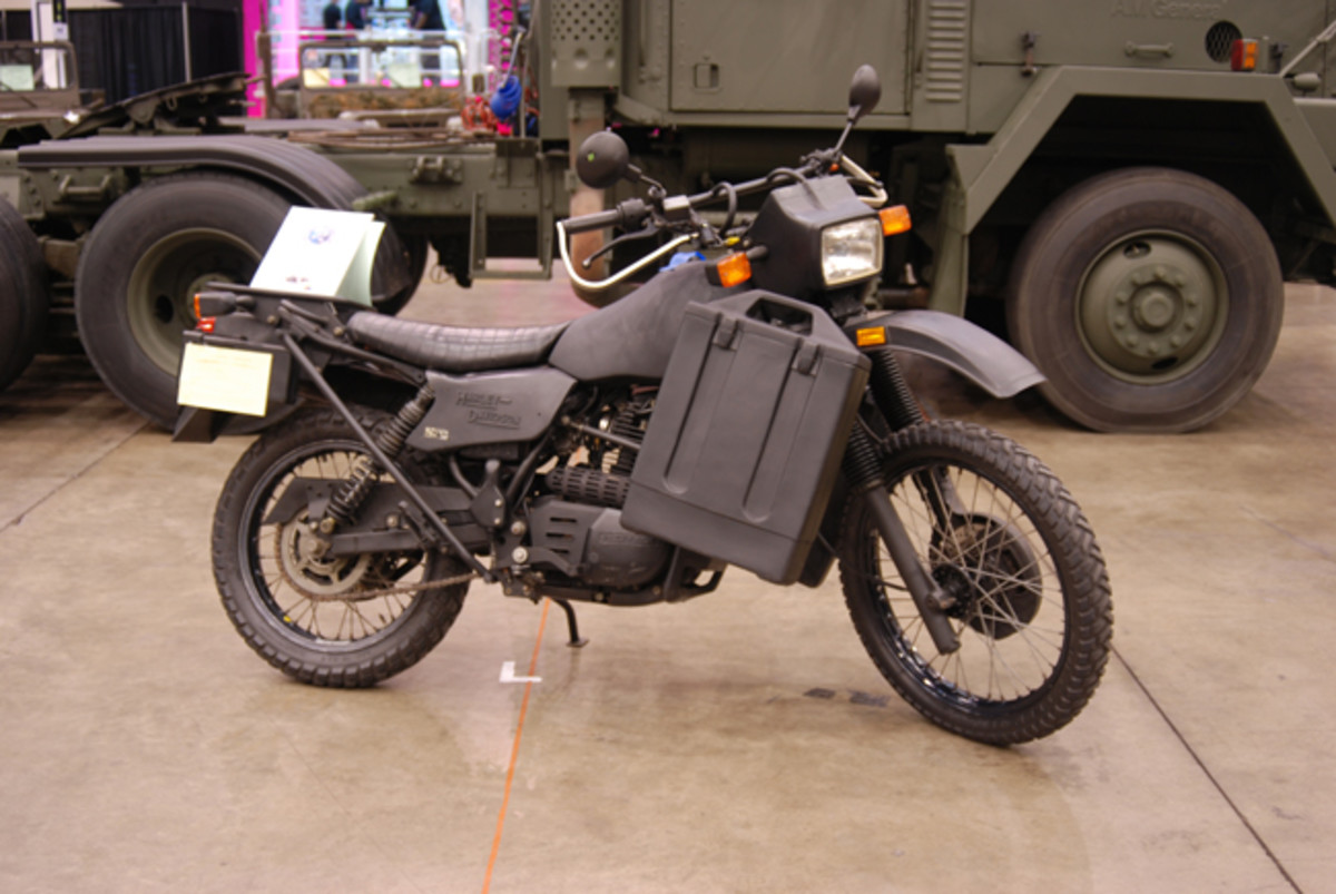 Bruce Blankenship's 1992 Harley Davidson MT500 was one of 18 built for the USAF Combat Command.