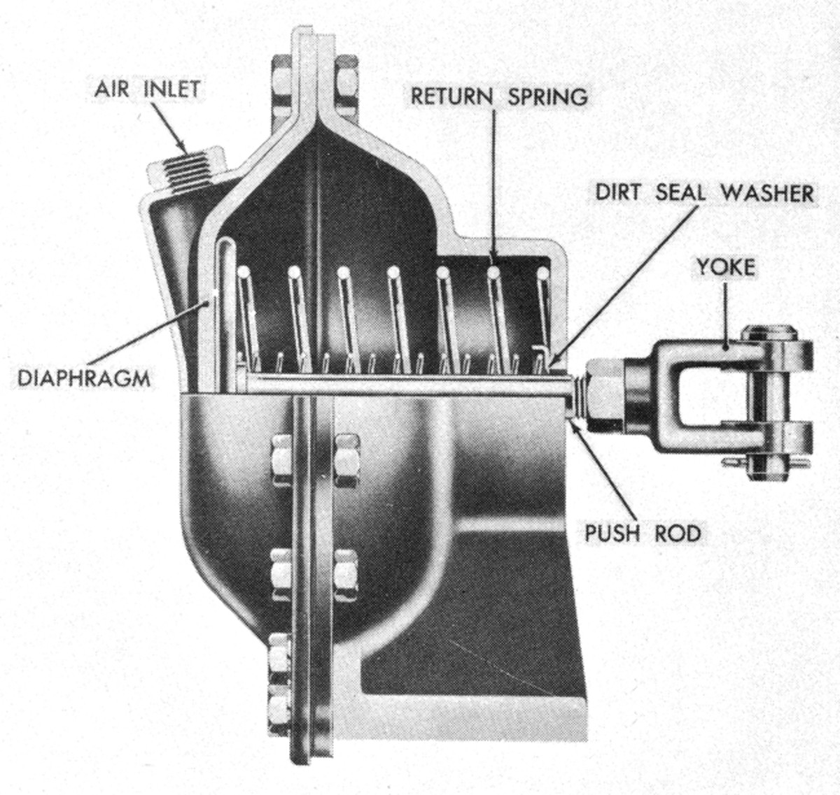 """Basic early style air chamber (or """"pot"""")."""