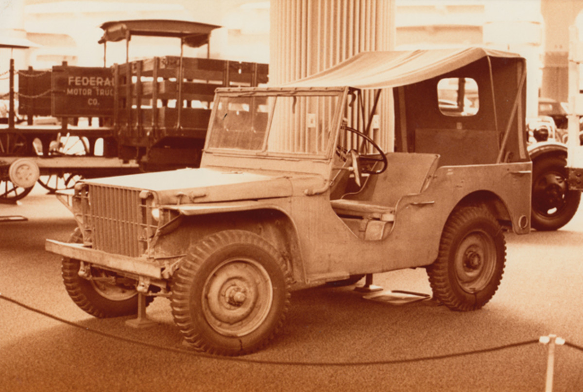 The 1940 Ford Pilot Model GP-No. 1 Pygmy on display at the Henry Ford Museum ca 1970s. GP-No.1 is almost entirely as it was when this photo was taken with the exception of the later model wheels and tires and the side view mirrors. All components have been maintained with the vehicle, however.