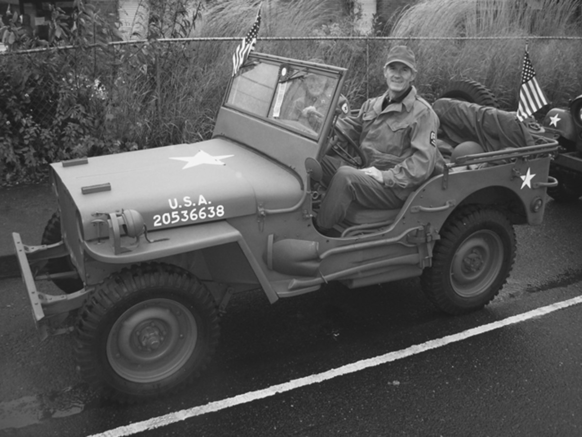 As a member of the Military Vehicle Collectors Club of Oregon, I enjoy driving the GPW in Portland's annual Veteran's Day Parade. Nancy still likes going jeep riding with me.