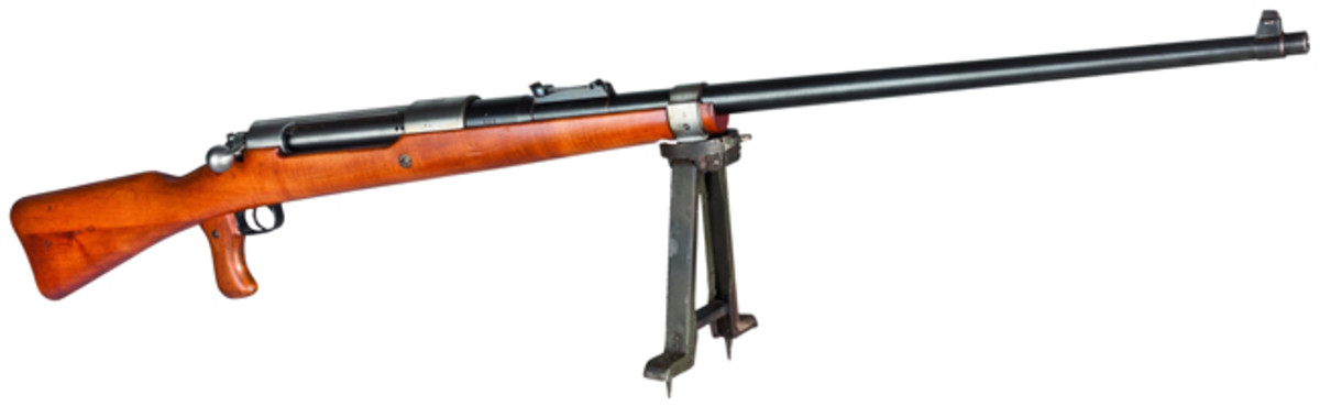 A Tank Rifle M 1918, Mauser, with fork support.