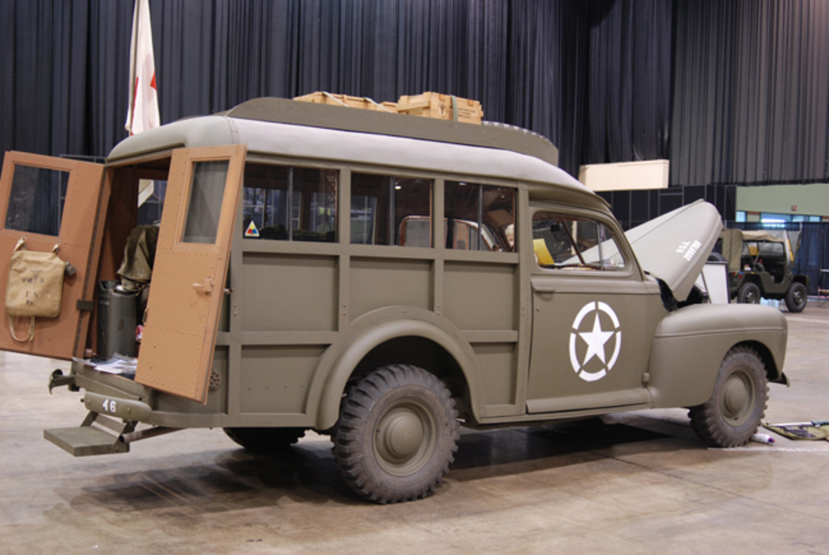 Mike Nickels' Ford / Schult Trailers 1944 Auxiliary Ambulance received a Restored Class GOLD.