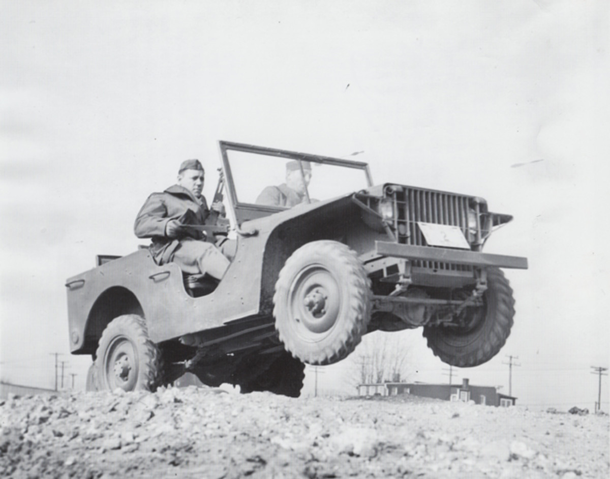 •The 1940 Ford Pilot Model GP-No. 1 Pygmy, during initial testing after delivery to the U.S. Army Quartermaster Corps at Camp Holabird in Baltimore on 23 November 1940. (Photo courtesy of the U.S. Veterans Memorial Museum)