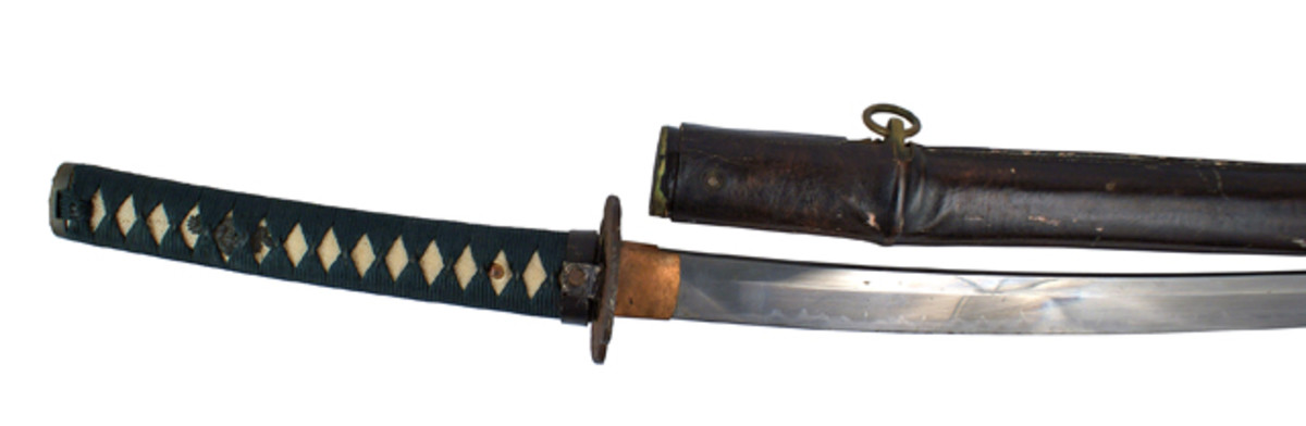 Samurai sword surrendered by Japanese Rear Admiral Nobukagu Yoshimi in 1945 ($7,538).