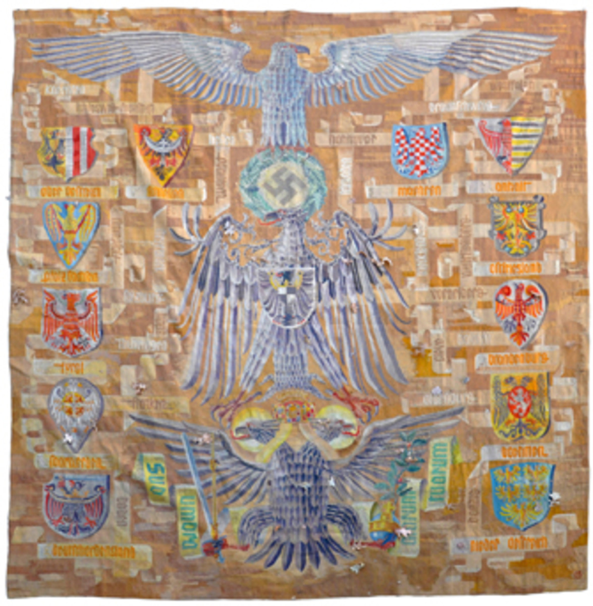 Monumental German World War II Reichstag National Culture Gobelin tapestry, 11 feet 10 inches by 10 feet 2 inches (MB: $25,000).