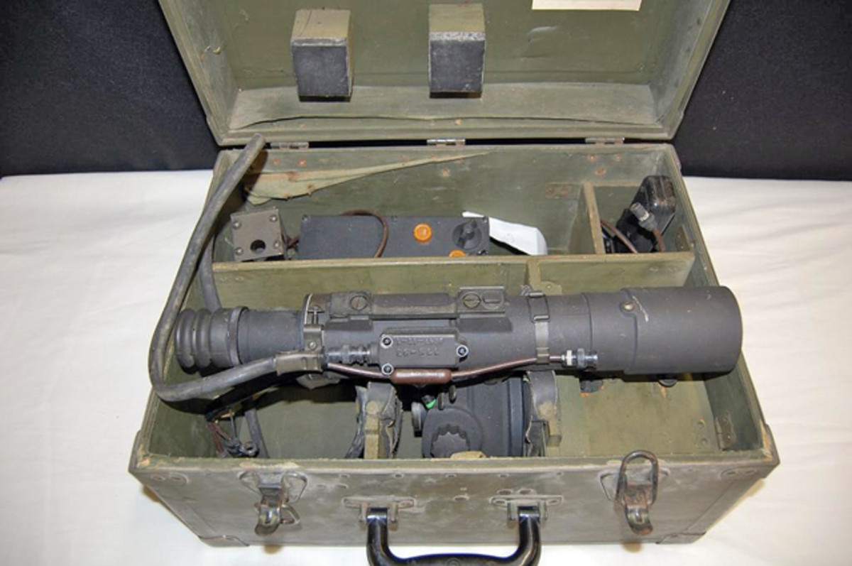 U.S. Sniper infrared sniper scope for a carbine with its original case sold for $1,400.