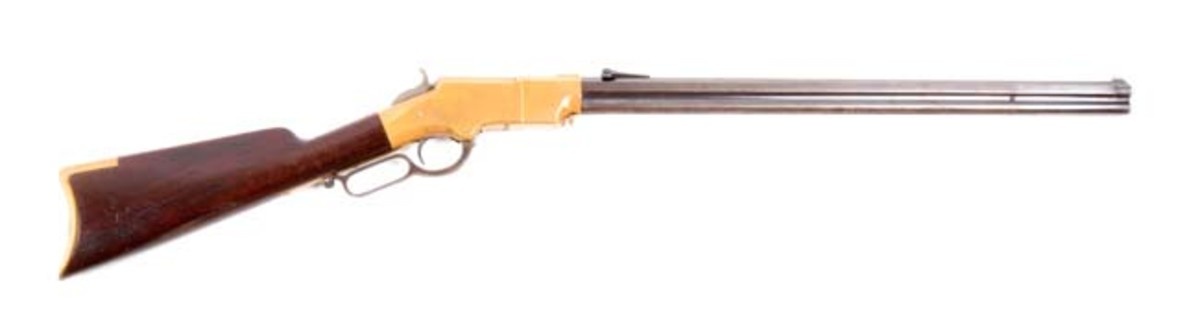 ID'ed Martially Marked Henry Lever Action Repeating Rifle