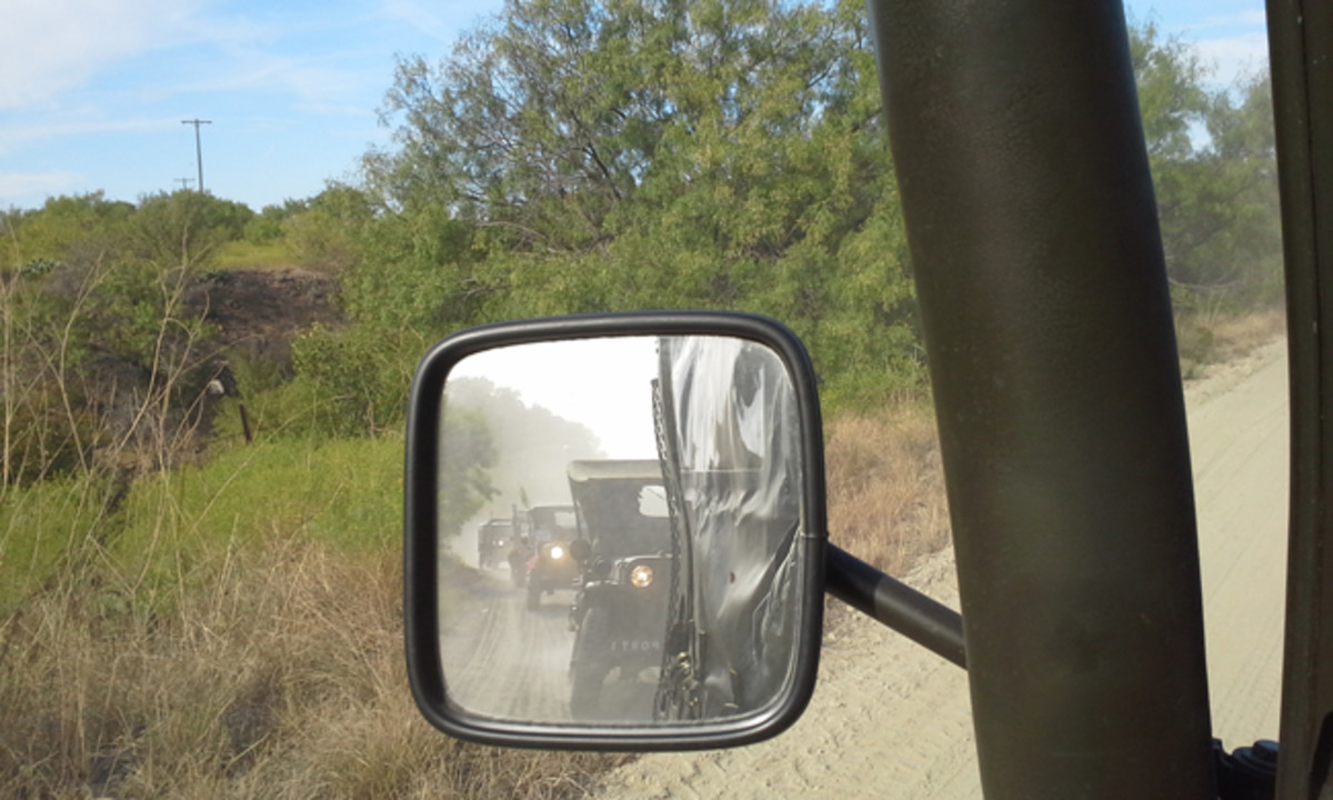 What I saw in my rear view mirror for 3,400 miles!