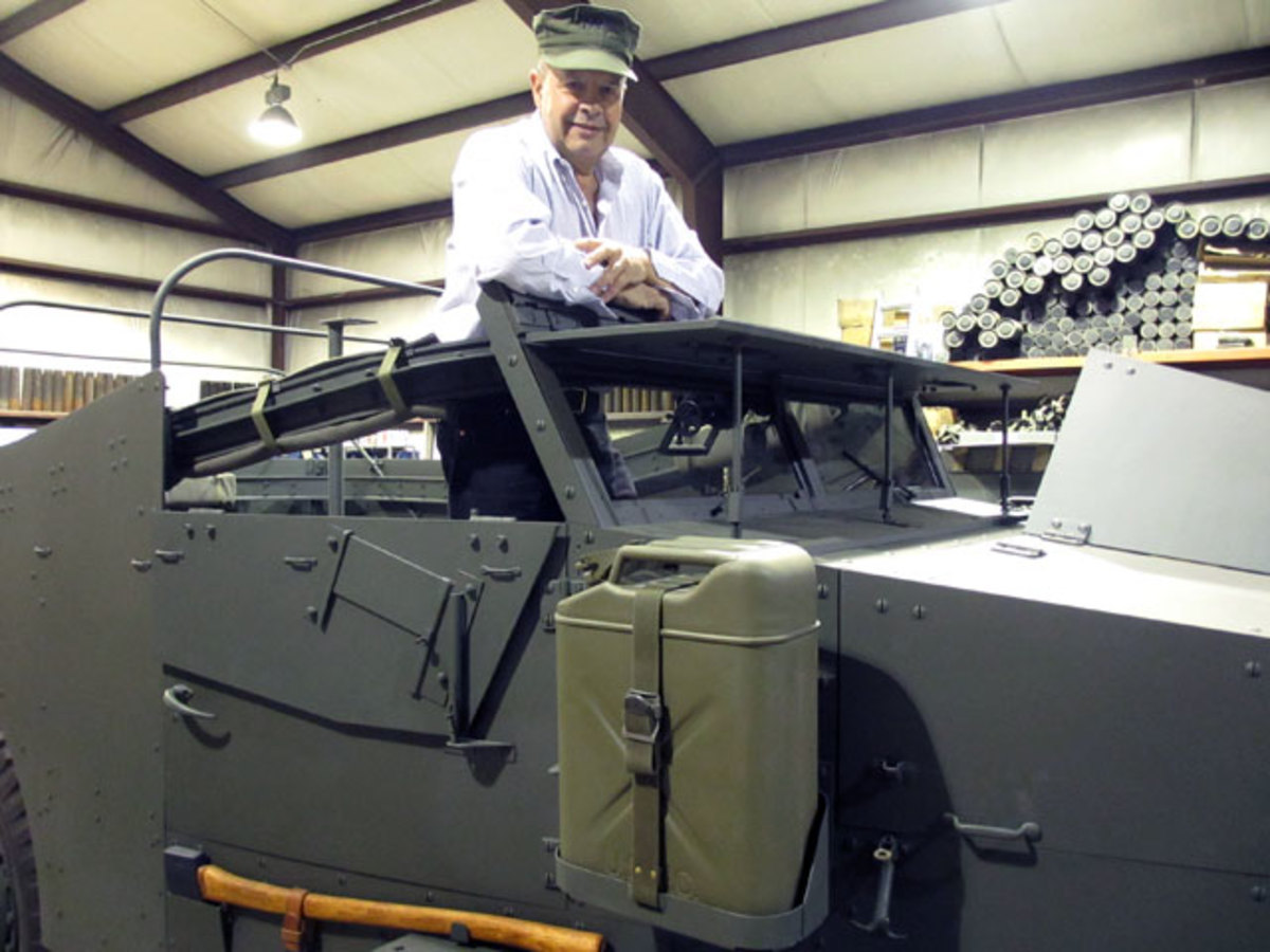 A lifelong military history enthusiast, Terry Markarian has turned his passions into a successful business buying, selling, and restoring historic military vehicles.