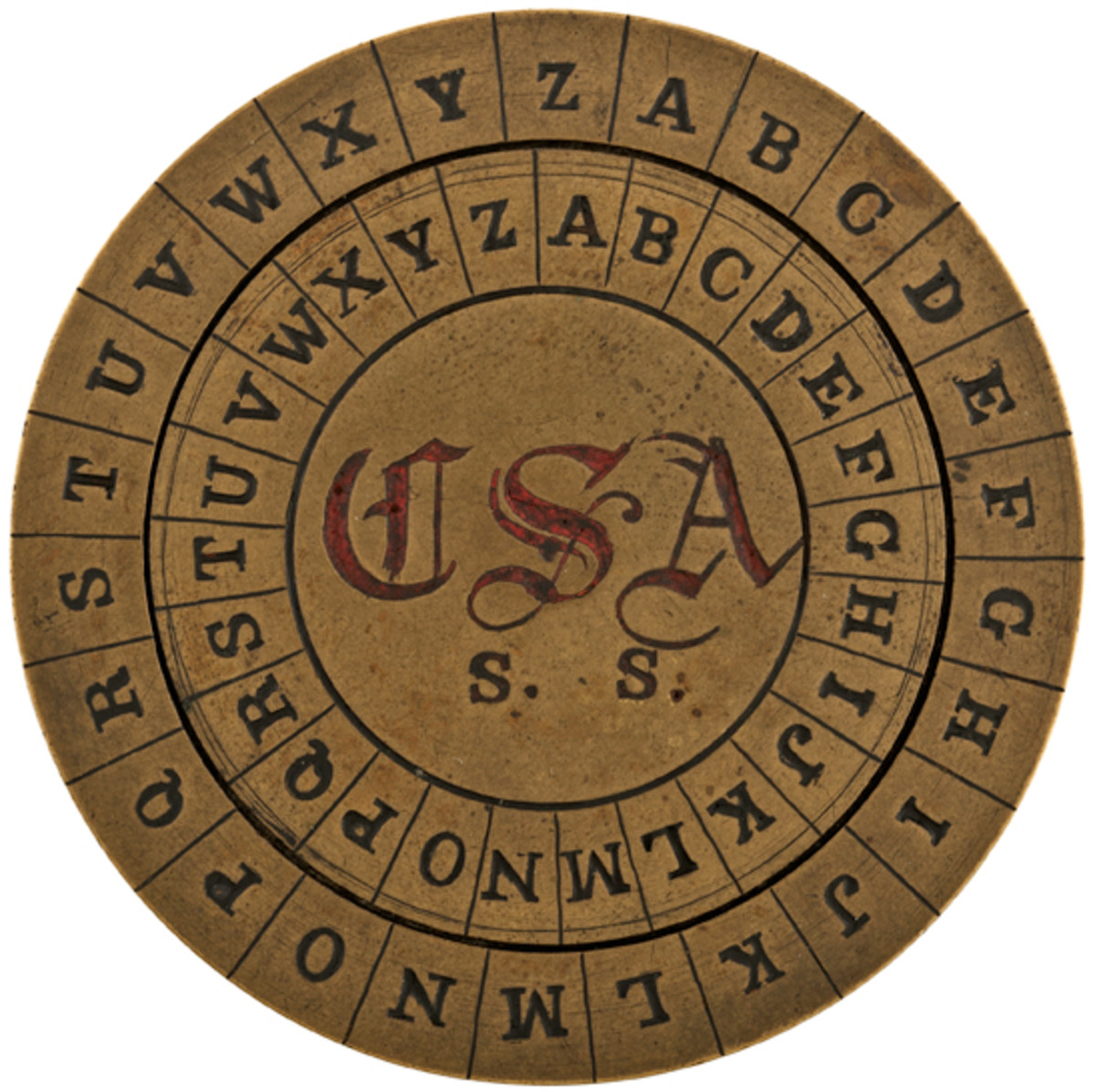 Exceptionally Rare Confederate Cipher Disc - $10,000/15,000