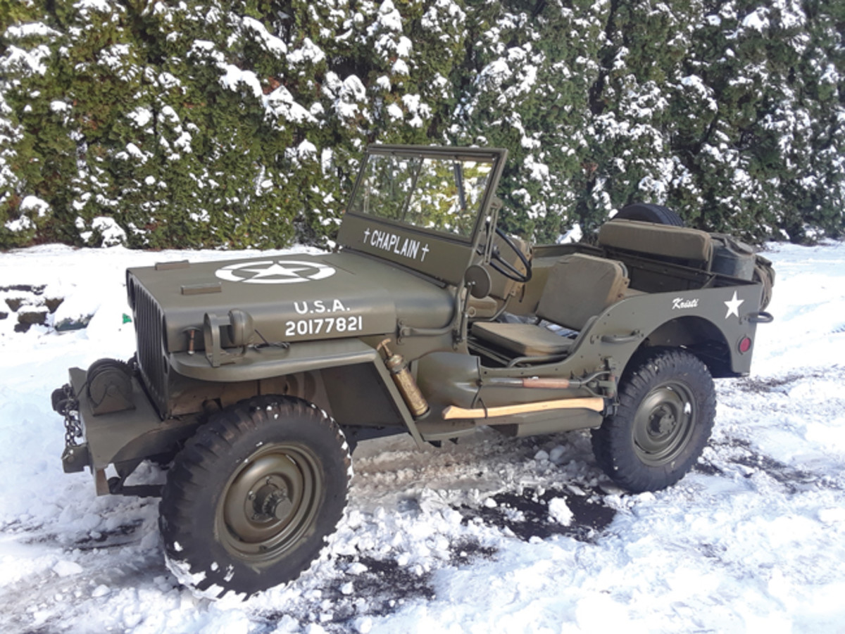 After six years of restoration, this 1943 jeep looks a lot different. The engine is correct for a GPW and runs great. It took an additional $8,000 added to the original investment to get it to this condition.