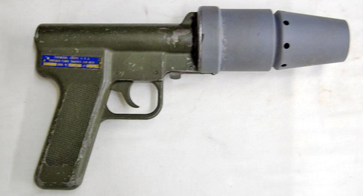 USA deactivated hand held flame thrower sold for $480.