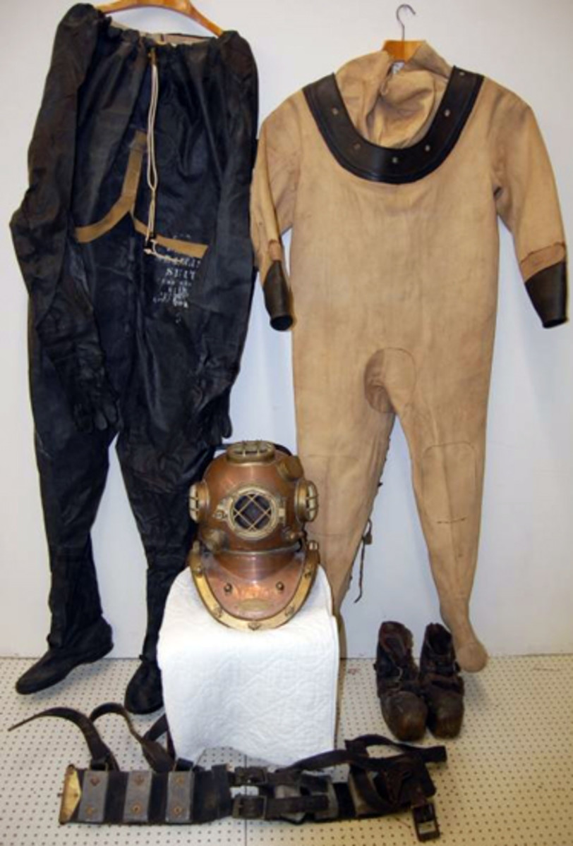Navy diving suit sold for $4,800.
