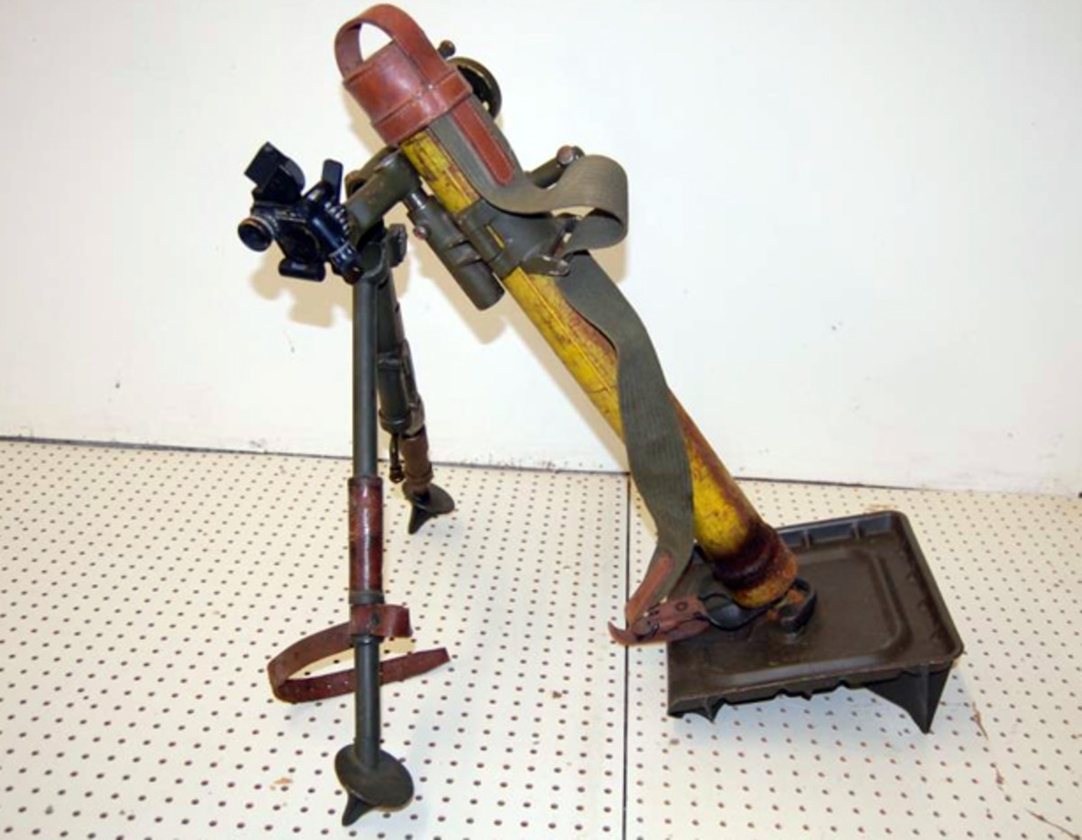 WWII 60 mm mortar launcher sold for $1,100.