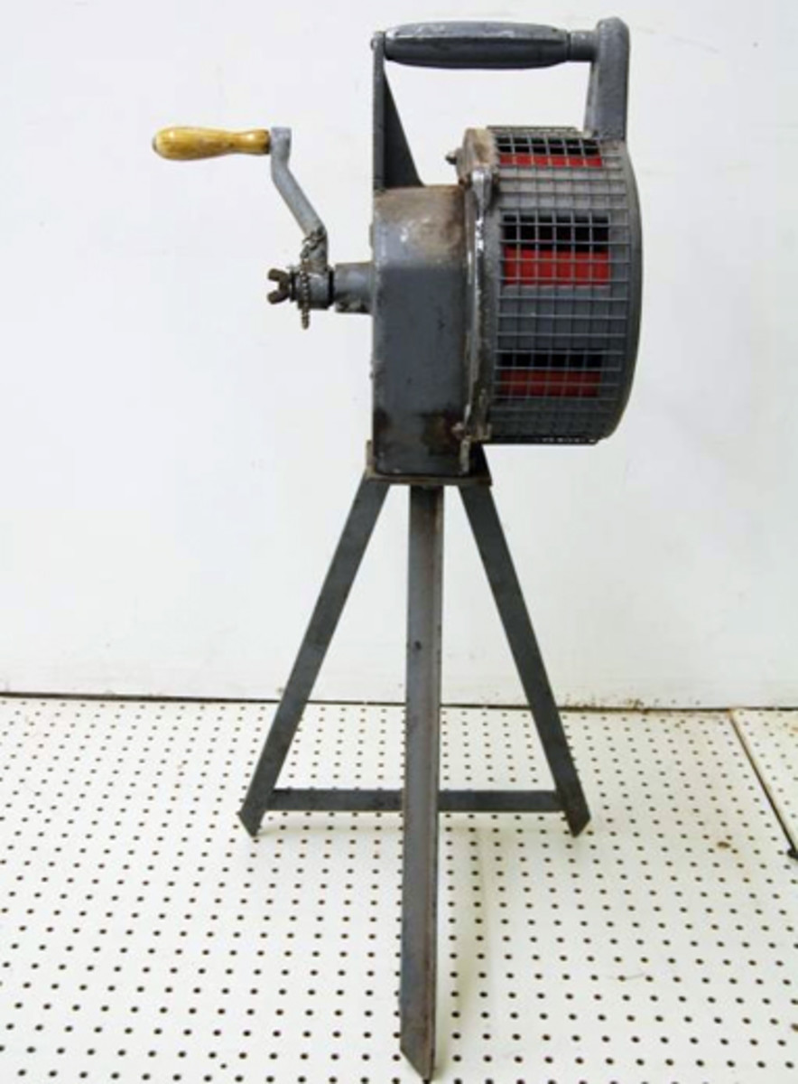 Air raid siren complete with stand sold for $1,100.