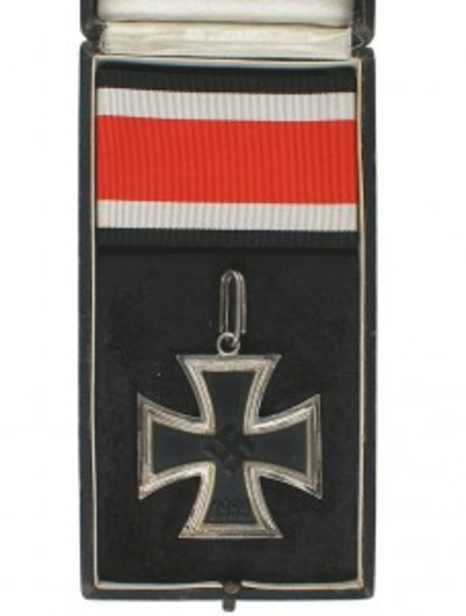 Knights Cross of the Iron Cross German military award from WWII, dated 1939 ($6,750).