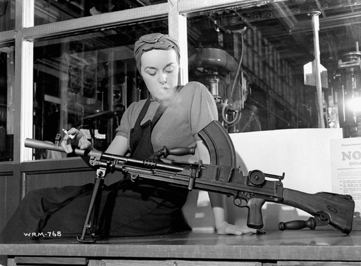 "Some believe the inspiration for the hit song, ""Rosie the Rivter,"" was Veronica Foster, popularly known in Canada as ""Ronnie, the Bren Gun Girl."" Foster worked for John Inglis Co. Ltd producing Bren light machine guns on a production line on Strachan Avenue in Toronto, Ontario."