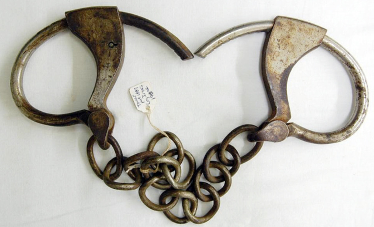 Rare c. 1860 adjustable leg irons sold for $7,000.