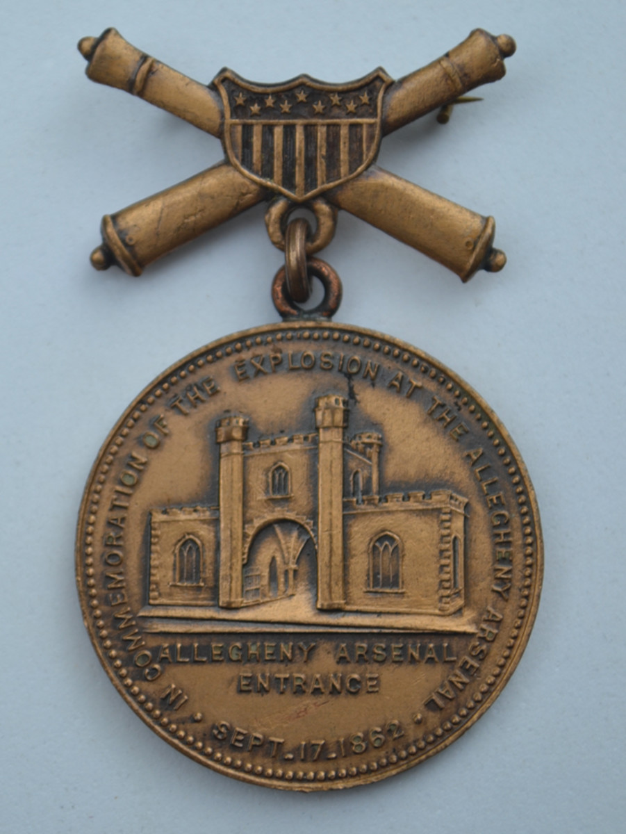 Heeren Brothers designed and issued the Allegheny Arsenal Explosion Medal as a commemorative medal in 1909.