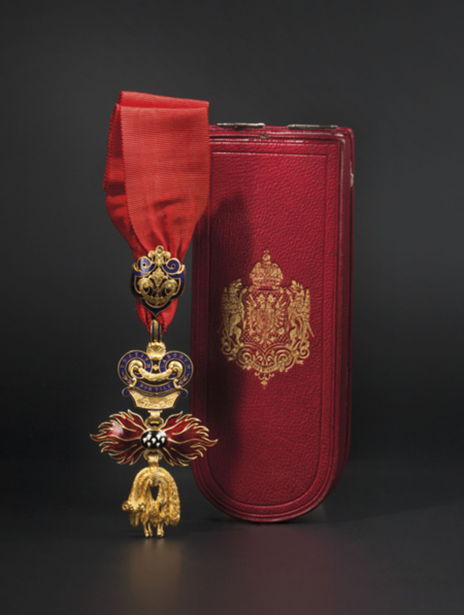 Order of the Golden Fleece - complete set circa 1890, in a case.