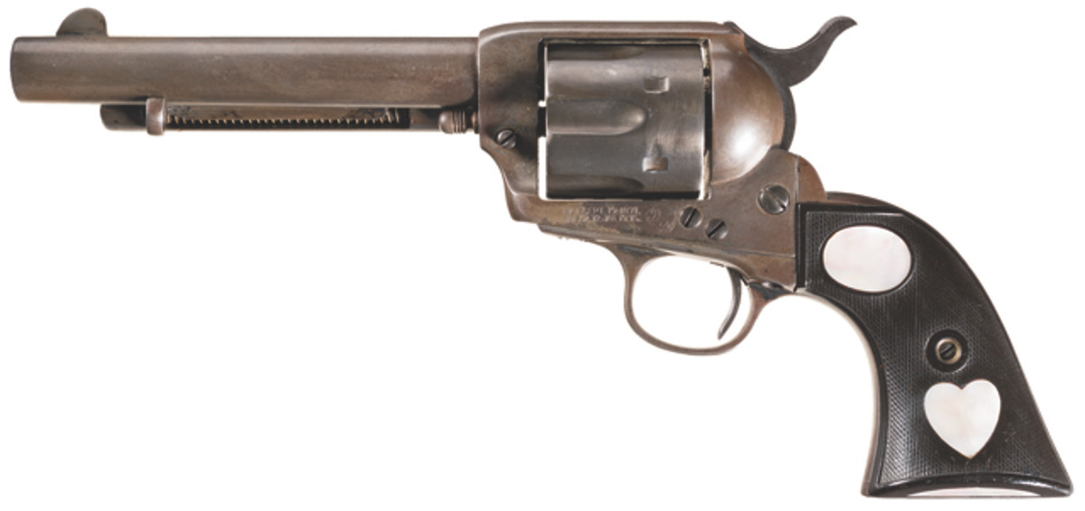 Lot 3397: Inscribed First Generation Colt Single Action Army Revolver with Factory Letter. Estimated Price: $5,000-$10,000